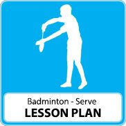 Badminton Lesson Plan – Serving
